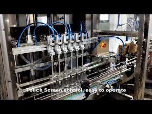 línea automática de la máquina de llenado de llenado de líquido de cloro detergente de 6 cabezales
