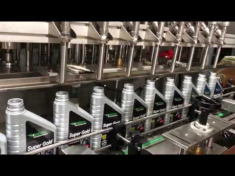 línea de equipos de llenado de aceite lubricante de aceite lubricante de pistón completamente automático