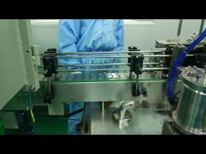 Máquina de llenado y atornillado de doble vía de 30 ml a 100 ml para botella redonda