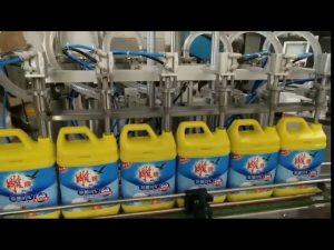 Máquina automática de llenado de botellas de champú para detergente de lavandería de 8 cabezales