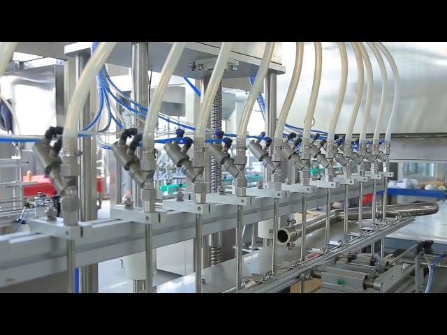 máquina de llenado de botellas de alcohol desinfectante líquido jabón de manos