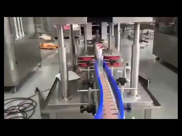 máquina automática de llenado de pistón de gel desinfectante para manos