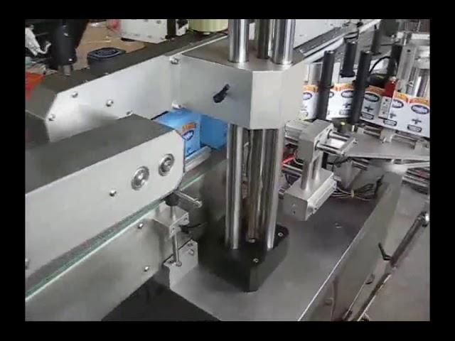 máquina automática de etiquetado de etiqueta de botella de doble cara para botella redonda