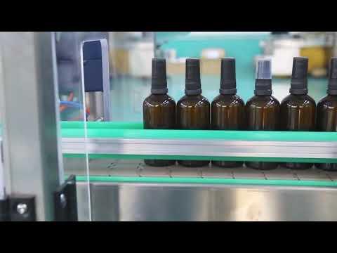 máquina de llenado de botellas de aceite cbd de plataforma de acero inoxidable de alta precisión