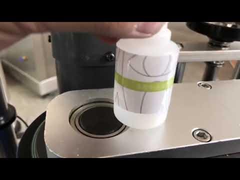 pequeña máquina de etiquetado automática de etiquetas de botellas redondas de escritorio