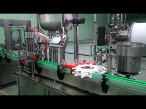 Máquina automática de llenado y tapado de mermeladas de 4 cabezales