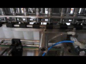 máquina automática de llenado de líquidos con detergente líquido y desinfectante