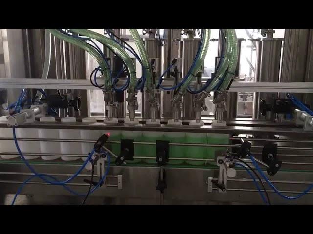 máquina de llenado de botellas de jabón líquido de pistón