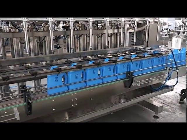 máquina automática de llenado de botellas de pistón desinfectante de jabón líquido para manos