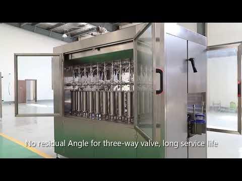 línea automática de la máquina de etiquetado de llenado y tapado de botellas de vidrio para mascotas de pistón automático