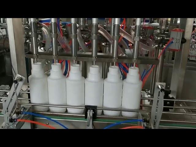 máquina de llenado de botellas de pistón de aceite esencial lubricante lubricante del motor