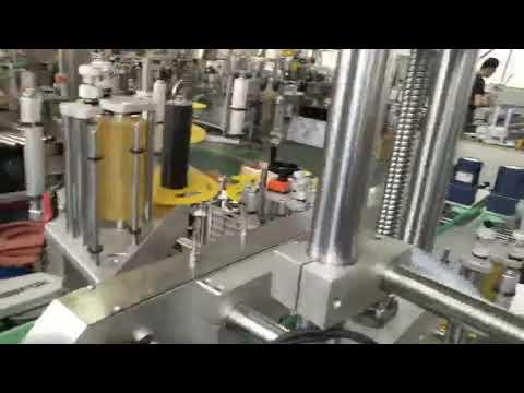 Máquina automática de etiquetado de etiquetas autoadhesivas de plástico y vidrio