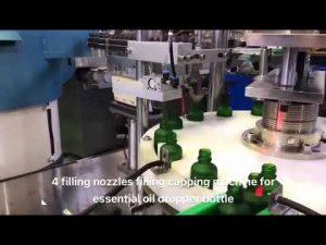 botella de gotero aceite esencial máquina de llenado de aceite cbd