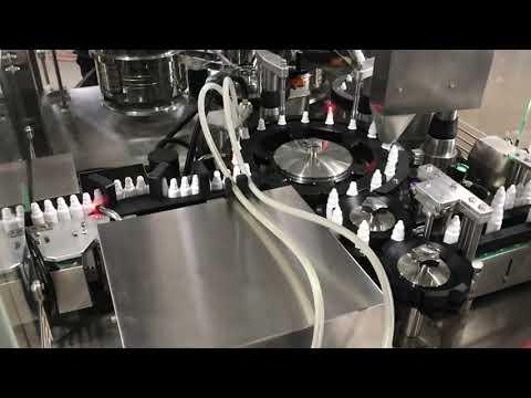 máquina de taponado de llenado de gotas oculares farmacéuticas para vial pequeño de 20 ml