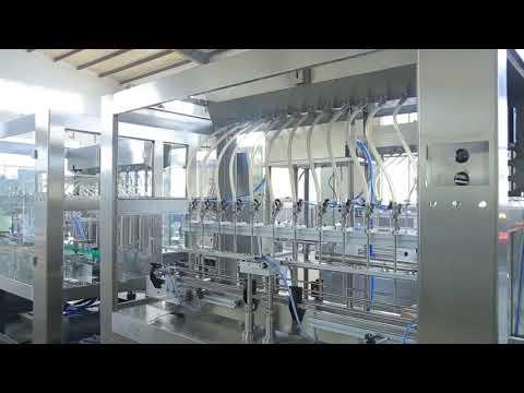 Máquina de llenado de tarros de botellas de aceite comestible líquido viscoso lineal automático de fábrica