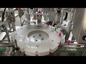 líquido de cigarrillo electrónico automático, máquina de etiquetado de tapado de llenado de aceite de cbd