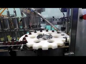 máquina de llenado y sellado de aceite de medidor de flujo de base de HDPE de ácido clorhídrico de carámbano